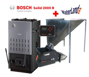 Котел на твърдо гориво Bosch Solid SFU 2000 24kW стоманен-0