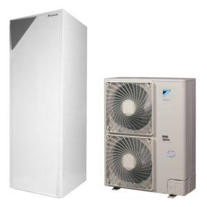 Термопомпа Daikin Altherma с вграден водосъдържател EHVX16S26CB9W/ERLQ016CV3 (16 kW)-0