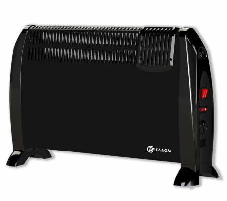 Подов конвектор Елдом,модел:CFV2000-BL-черен с вентилатор-0