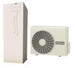 Термопомпа HITACHI с вграден водосъдържател 260 L YUTAKI S 2.5V COMBI (230V) 6 kW-0