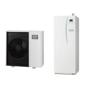 Термопомпа Mitsubishi Electric Ecodan,модел: EHST20C-VM2C+PAC-DP01-E/PUHZ-SW75VAA Power inverter с вграден водосъдържател (8 kW)-0